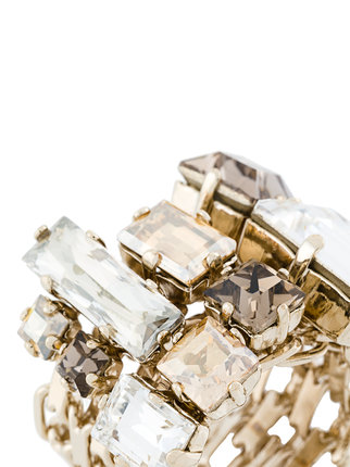 LANVIN encrusted chain ring