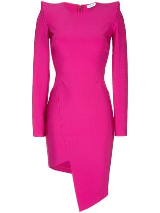 MUGLER asymmetric long sleeve dress