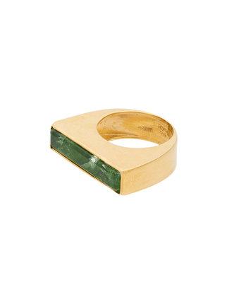 KATERINA MAKRIYIANNI Dioptase baguette ring