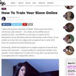Online Slave Training Interview with SimplySxy