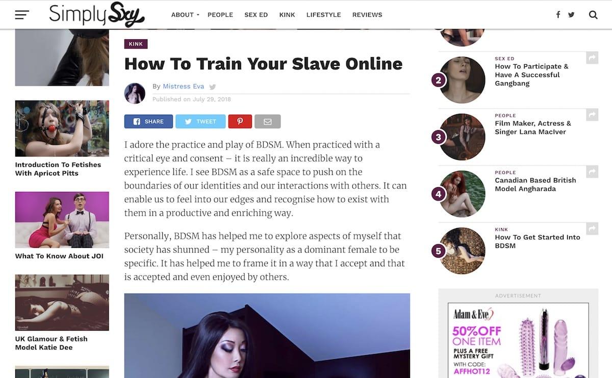 Online slave training SimplySxy